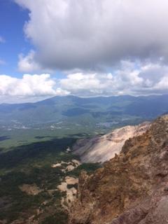 磐梯山からの秋元湖